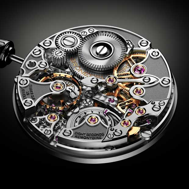 3D Rendering of the Grönefeld 1941 Remontoire Watch Movement commissioned for Grönefeld in 2016. This image is being used for their entry to the 2016 GPHG