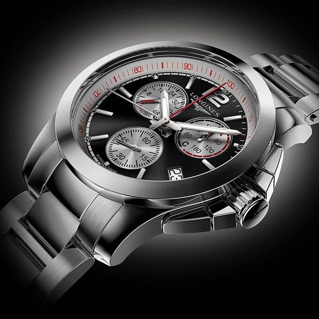 3D Rendering of the Longines FEI Horse Jumping Chronograph Watch commissioned for Longines in 2013